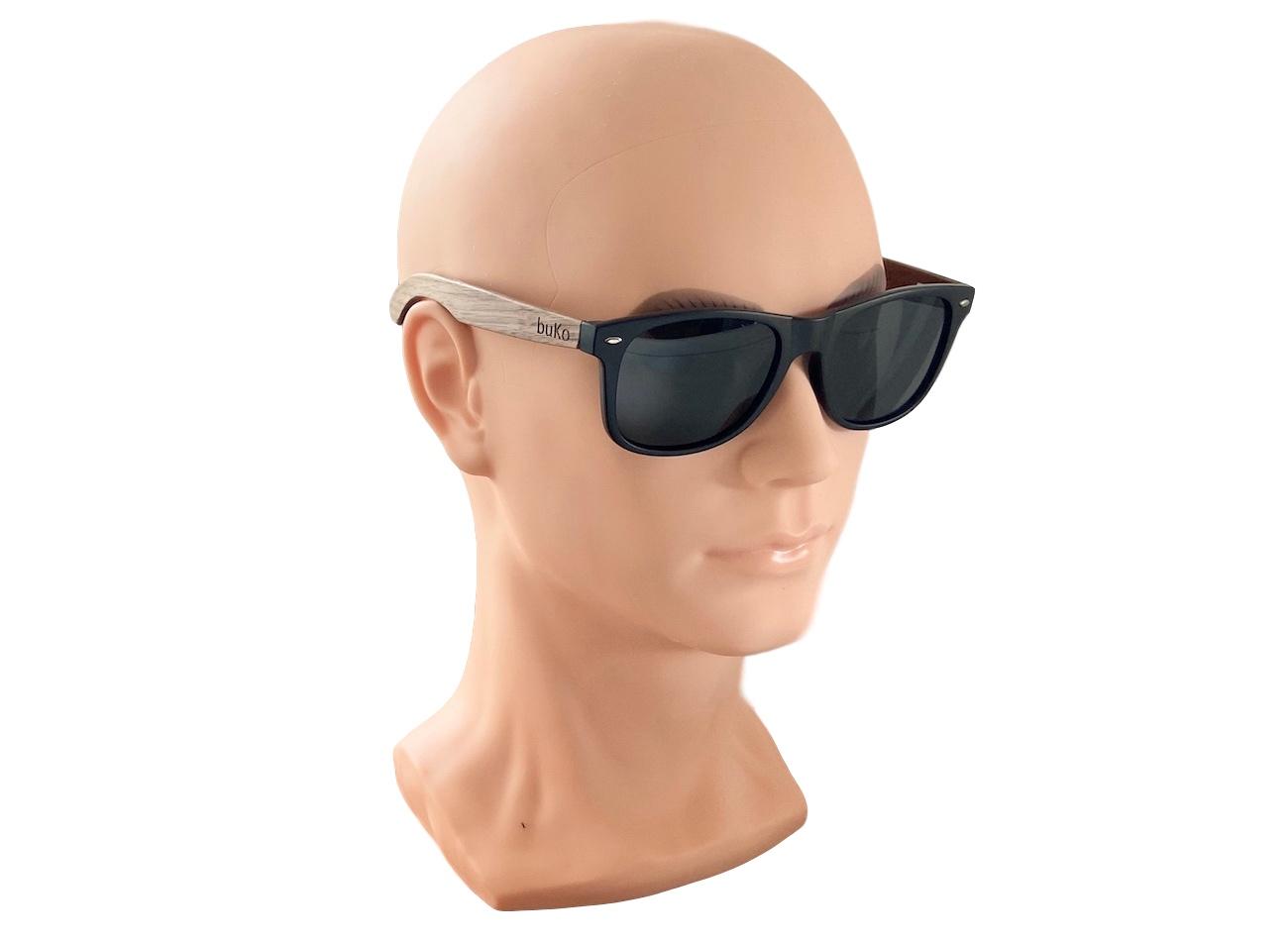Runaway wooden sunglasses on male model