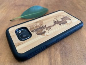 Wooden Samsung Galaxy S7/S7 Edge Case with Down To Earth Engraving