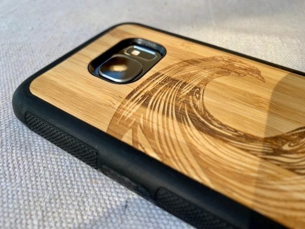 Wooden Samsung Galaxy S7/S7 Edge Case with Wave Engraving
