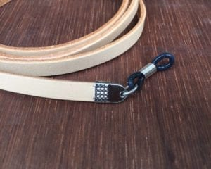 Tan leather sunglasses strap