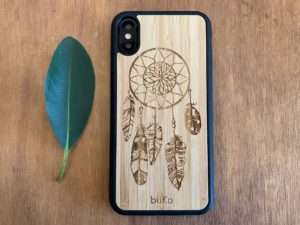 Wooden iPhone X/XS Case with Dreamcatcher Engraving