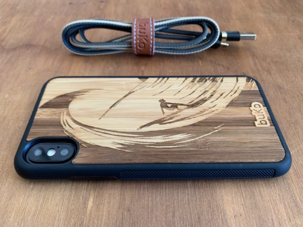 Wooden iPhone XS Max Case with Surfer Engraving