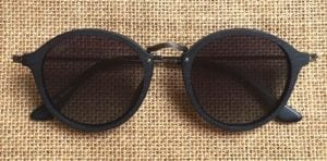 Tama Black Wood Sunglasses