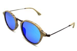 Tama Oak sunglasses with blue lenses