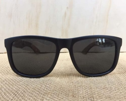 front view of Rogue Wooden Sunglasses