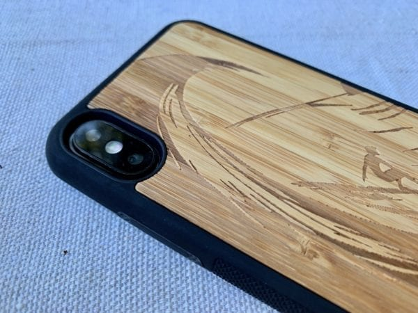 Wooden iPhone X/XS Case with Surfer Engraving