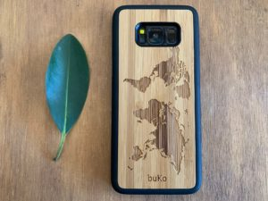 Wooden Samsung Galaxy S8 and S8 Plus Cases/Covers with World Map Engraving
