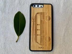 Wooden Huawei P10 Case with Kombi Van Engraving