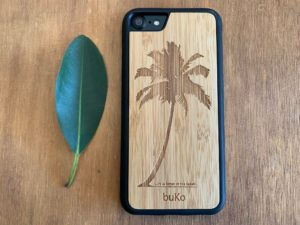 Wooden iPhone 7 and iPhone 7 PLUS Case with Palm Tree Engraving
