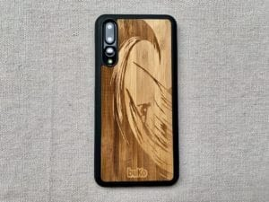 Wooden Huawei P20 and P20 Pro Cases with Surfer