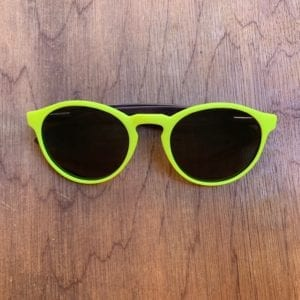 Kids' Yellow Wooden Poralised Sunglasses
