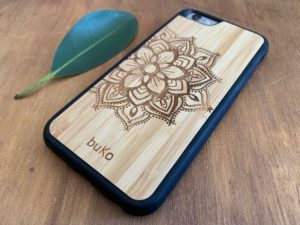 Wooden iPhone 6 and 6 Plus Case with Mandala Engraving