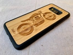 Wooden Samsung Galaxy S8 and S8 Plus Cases/Covers with Motorbike Engraving