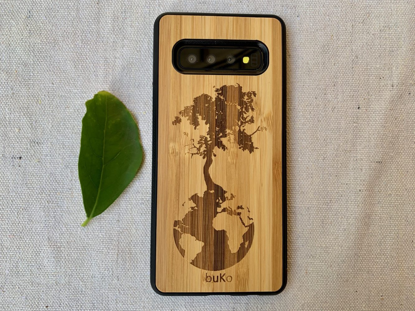 Wooden Galaxy S10/S10 Plus Case with Down to Earth Engraving