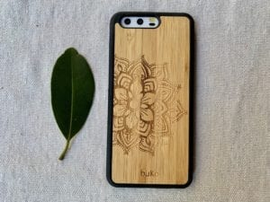 Wooden Huawei P10 Case with Mandala Engraving
