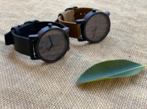 Black Walnut Wood Watch by buKo - Mens & Womens Wooden Watches