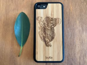 Wooden iPhone 8 and iPhone 8 PLUS Case with Koala Engraving