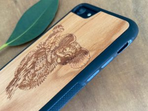 Wooden iPhone 7 and iPhone 7 PLUS Case with Koala Engraving II