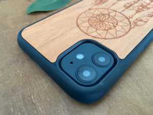 Wooden iPhone 11, 11 Pro, & 11 Pro Max Case with Dreamcatcher Engraving III