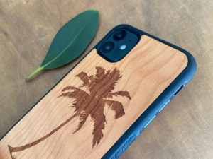 Wooden iPhone 11, 11 Pro, & 11 Pro Max Case with Palm Tree Engraving II