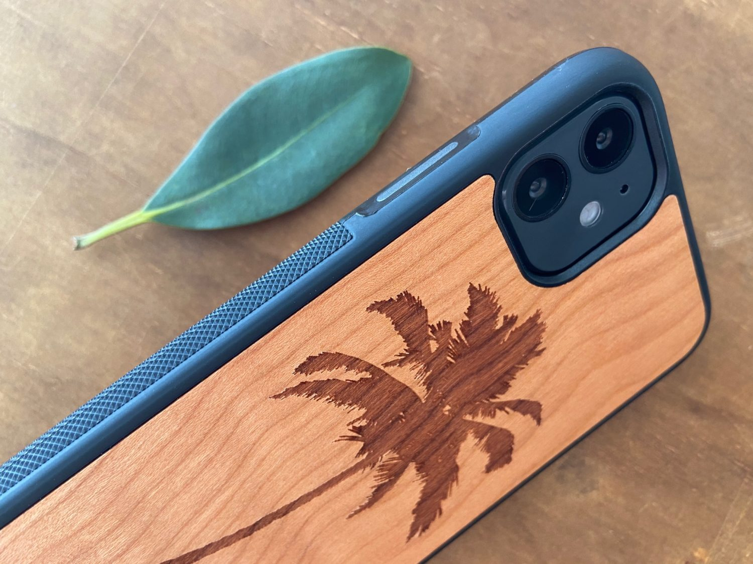 Wooden iPhone 11, 11 Pro, & 11 Pro Max Case with Palm Tree Engraving IV