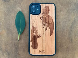 Wooden iPhone 11, 11 Pro, & 11 Pro Max Case with Turtle Engraving