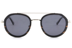 Luxé Black wooden Sunglasses front
