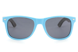 Runaway Blue Wood sunglasses front