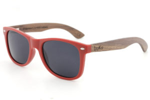 Runaway Red Wooden Sunglasses