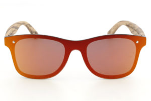 Drift 2.0 Red Wood Sunglasses front