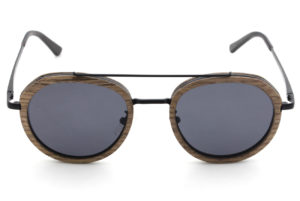 Luxe Walnut wood sunglasse top view