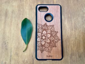 Wooden Google Pixel 3 and 3XL with Mandala Engraving