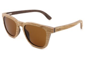 Walker Oak Wooden Sunglasses with brown polarised lenses
